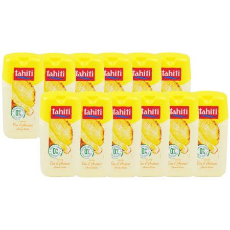 "Tahiti Douchegel ""Ananas Water "" 12 x 250ml - Voordeelverpakking"