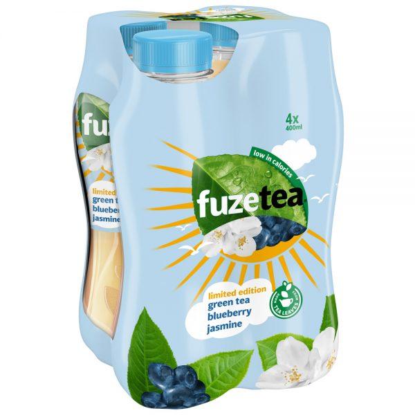 Fuze Tea Green Tea Blueberry Jasmine 4 x 400ml