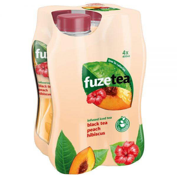 Fuze Tea Black Tea Peach Hibiscus 4 x 400ml