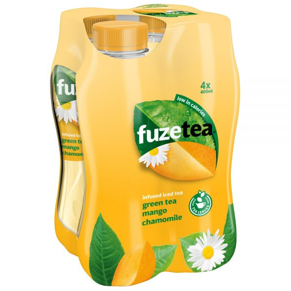 Fuze Tea Green Tea Mango & Chamomile 4 x 400ml