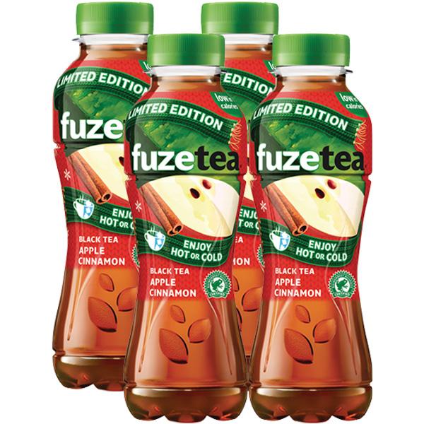 Fuze Tea Black Tea Apple & Cinnamon 4 x 400ml