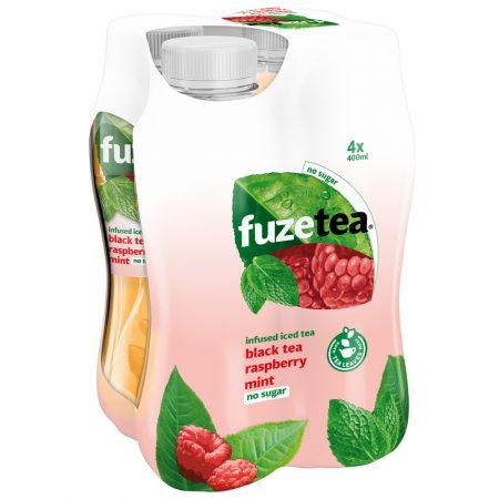Fuze Tea Black Tea Rasberry Mint No Sugar 4 x 400ml
