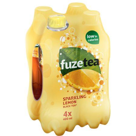 Fuze Tea Black Tea Sparkling Lemon 4 x 400ml
