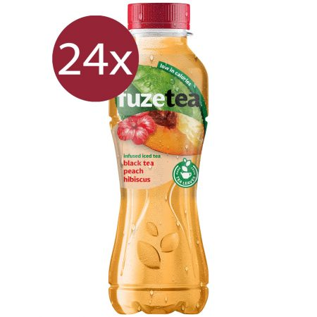 Fuze Tea Black Tea Peach Hibiscus 24 x 400ml
