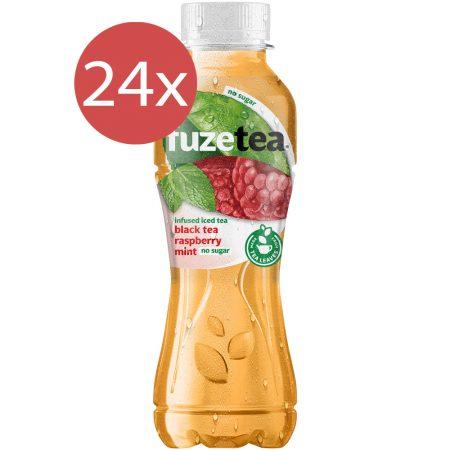 Fuze Tea Black Tea Rasberry Mint No Sugar 24 x 400ml