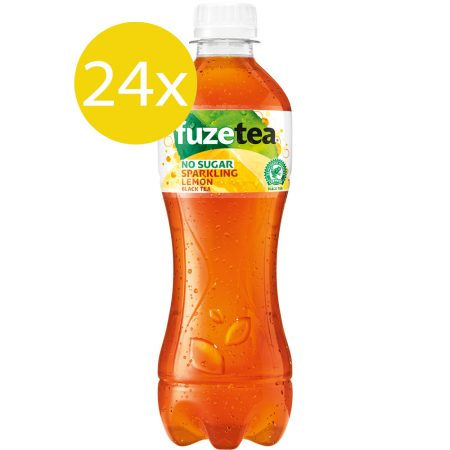 Fuze Tea Black Tea Sparkling Lemon No Sugar 24 x 400ml