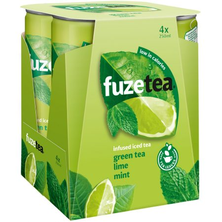 Fuze Tea Green Tea Lime Mint 4 x 250ml