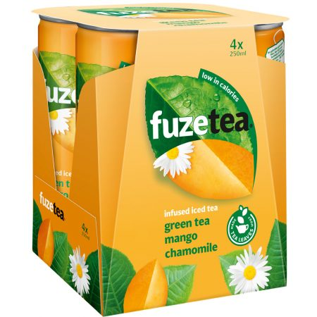 Fuze Tea Green Tea Mango & Chamomile 4 x 250ml