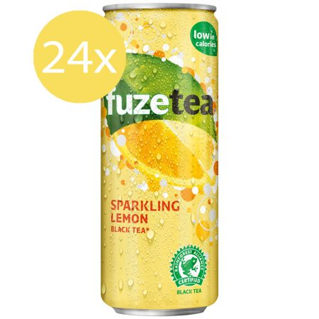 Fuze Tea Black Tea Sparkling Lemon 24 x 250ml
