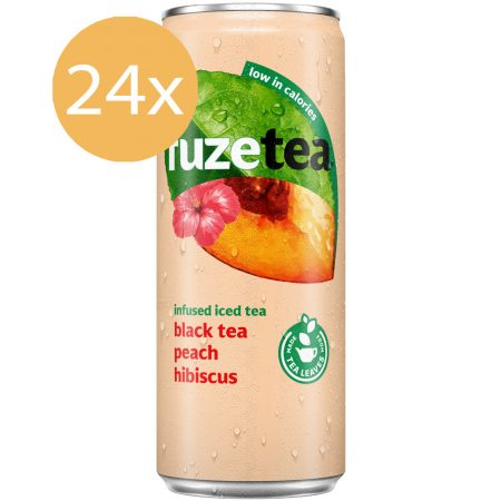 Fuze Tea Black Tea Peach Hibiscus 24 x 250ml