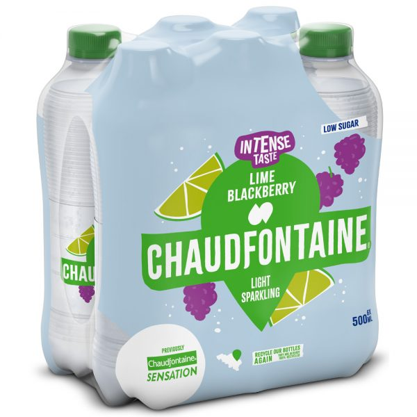 Chaudfontaine Intense Lime & Blackberry 6 x 500ml