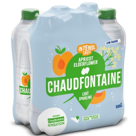 Chaudfontaine Intense Apricot & Elderflower 6 x 500ml