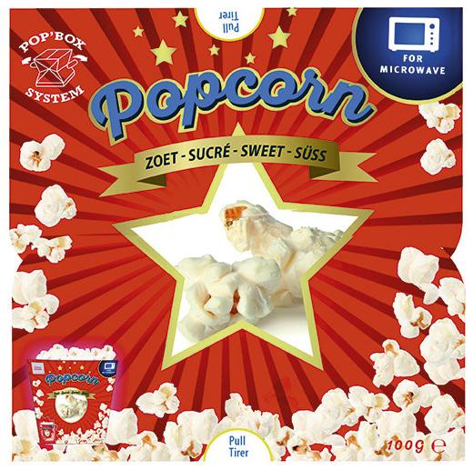 Popcorn Zoet 100g