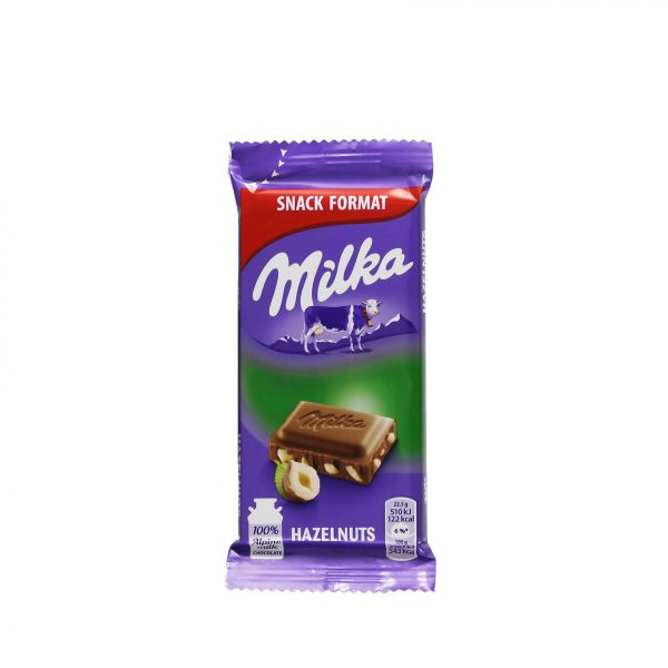 Milka Mini Chocolade Hazelnoot 45gr