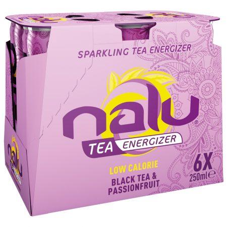 Nalu Fruity Enegizer Black Tea & Passionfruit 6 x 25cl
