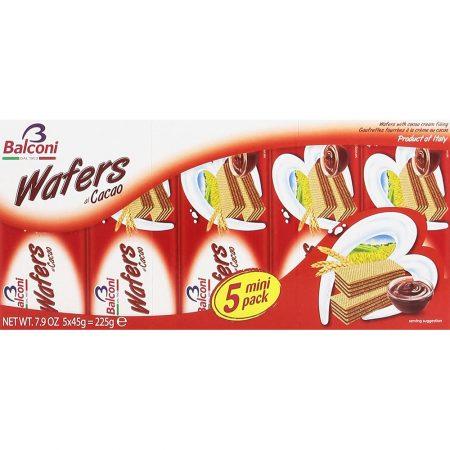 Balconi Wafels Cacao – Apart verpakt 5x45g