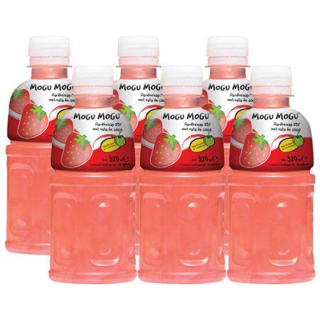 "Mogu Mogu Fruitdrink ""Aardbeien Smaak"" 6 x 320ml - Voordeelverpakking"