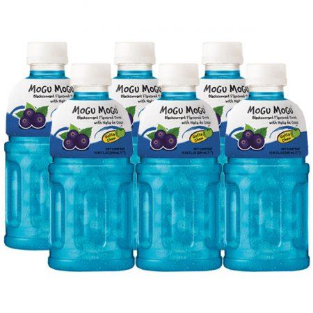 """Mogu Mogu Fruitdrink """"Zwarte Bessen Smaak"""" 6 x 320ml - Voordeelverpakking"""