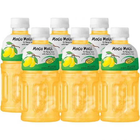"""Mogu Mogu Fruitdrink """"Mango Smaak"""" 6 x 320ml - Voordeelverpakking"""