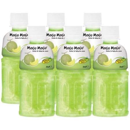 """Mogu Mogu Fruitdrink """"Meloen Smaak""""6 x 320ml - Voordeelverpakking"""