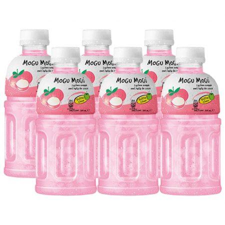 """Mogu Mogu Fruitdrink """"Lychee Smaak"""" 6 x 320ml - Voordeelverpakking"""