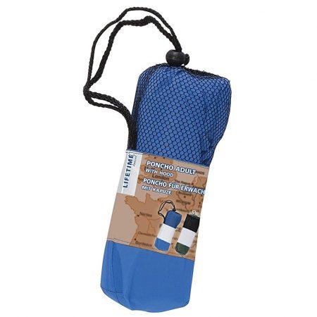 Regenponcho Voor Volwassenen Blauw