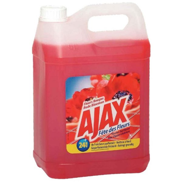 Ajax Allesreiniger - Rode Bloemen - 5L