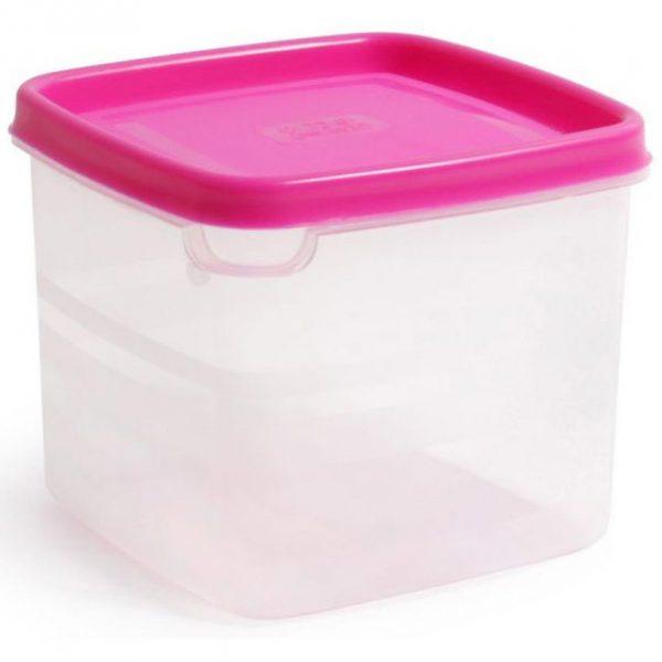 Vershouddoos Vierkant Roze Deksel 0,75L