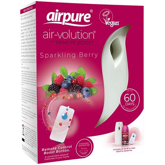 "Airpure Air-volution + Navulling ""Sparkling Berry"" 250ml"