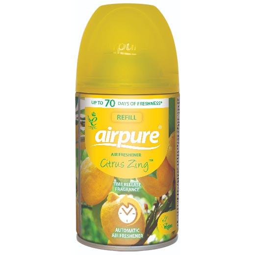 "Airpure Air-O-Matic Navulling ""Citrus Zing"" 250ml"