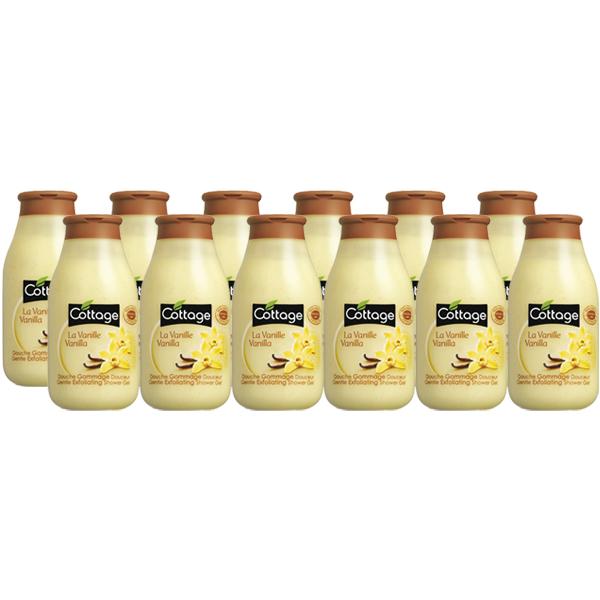 Cottage Douche Scrub Vanille – Voordeelverpakking 12 x 250ml