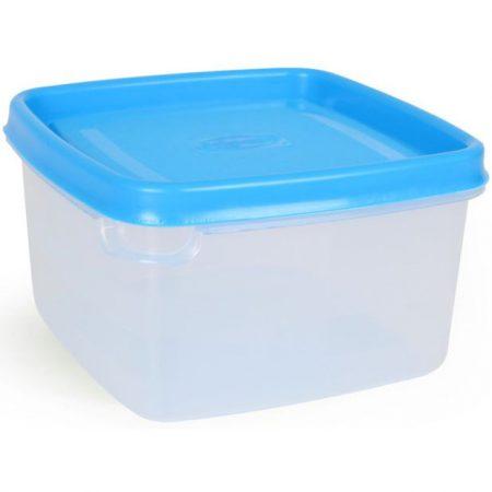 Vershouddoos Vierkant Blauw Deksel 0,5L