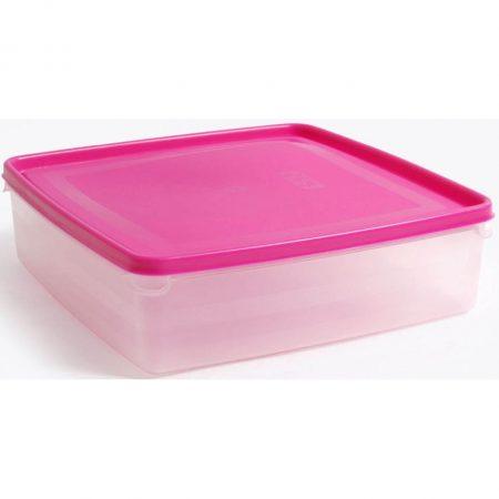 Vershouddoos Vierkant Roze Deksel 2,75L