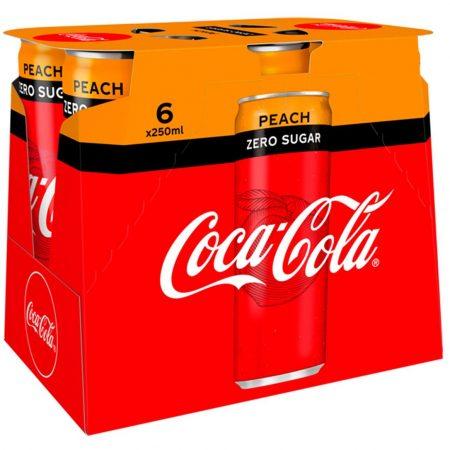 Coca Cola Zero Peach 6 x 250ml
