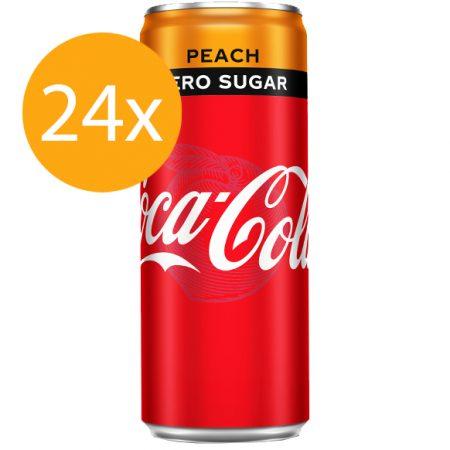 Coca Cola Zero Peach 24 x 250ml - Voordeelverpakking