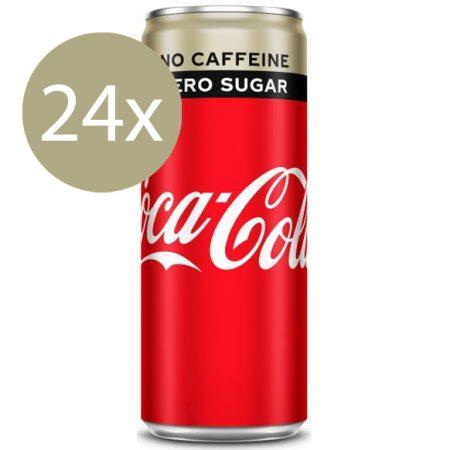 Coca Cola Zero Caffeine Free 24 x 250ml - Voordeelverpakking