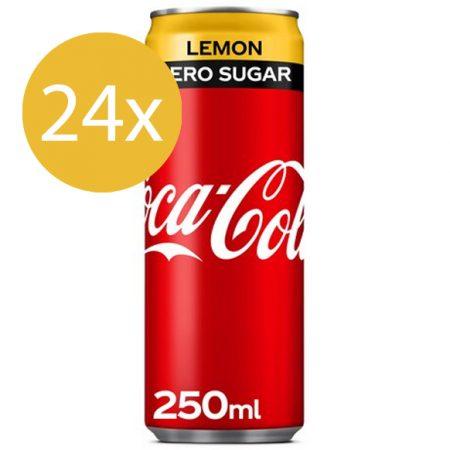 Coca Cola Zero Lemon 24 x 250ml - Voordeelverpakking
