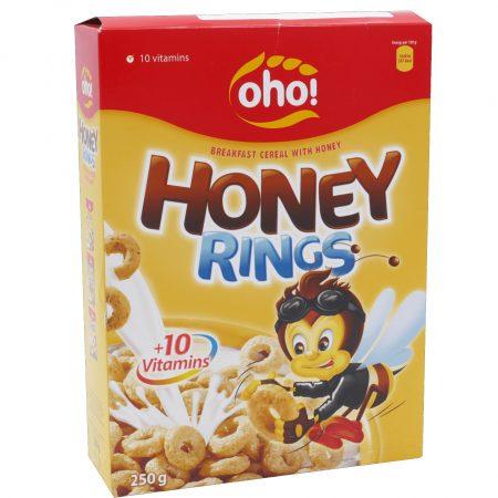 Oho! Cornflakes Honey Rings 250g