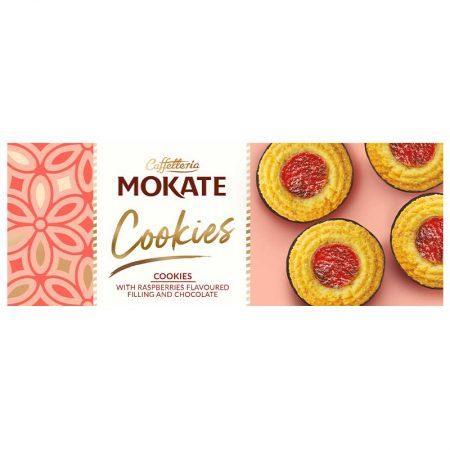 Mokate Cookies - Rings Met Framboosvulling & Chocolade 150g