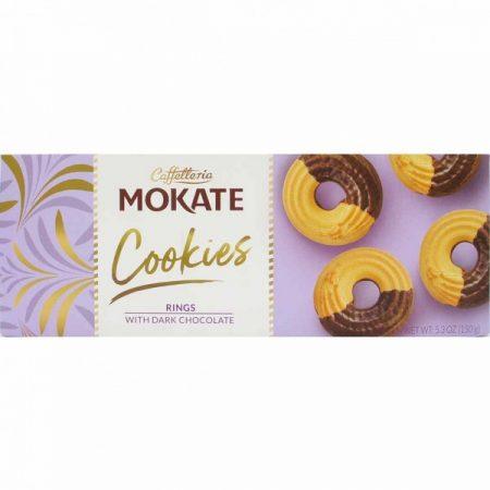 Mokate Cookies - Rings Donkere Chocolade 150g