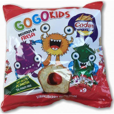 GoGo Kids Cake Met Aardbeivulling - Apart Verpakt 225g