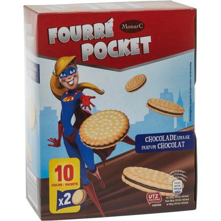 Fourré Pocket Koekjes Met Cacaovulling - Apart Verpakt 330g