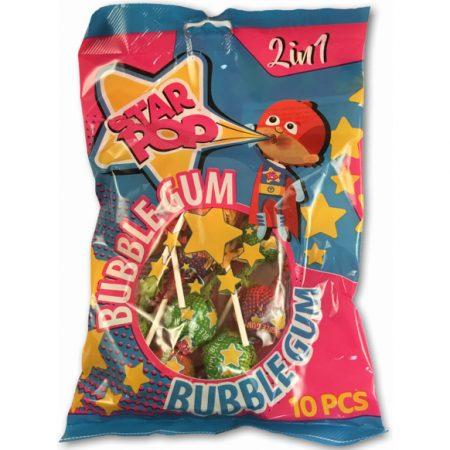 Star Pop Bubblegum Lolly's 10 stuks 240g