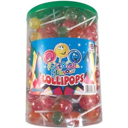 Lollipops Fruit & Cola smaak 200 stuks