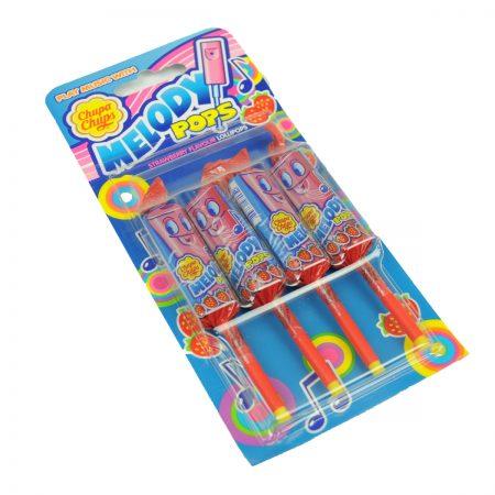 "Chupa Chups Snoep ""Melody Lollipops Strawberry"" 4x15g"