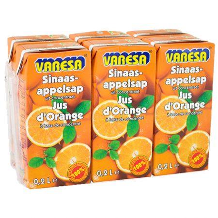 Varesa Sinaasappelsap 100% Sap 6 x 20cl