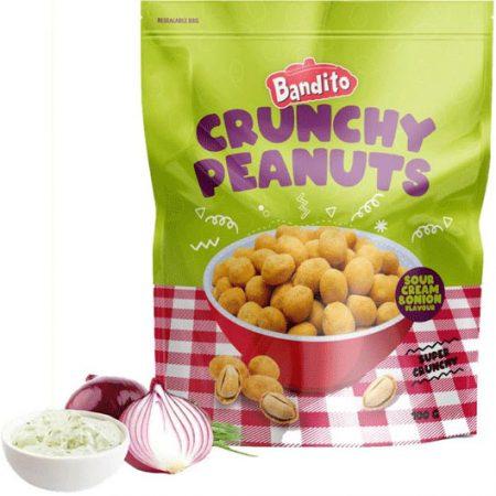 Bandito Crunchy Peanuts Sour Cream & Onion 100g