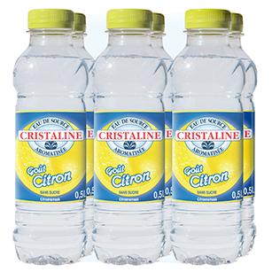 Cristaline Water Citroen 6 x 50cl