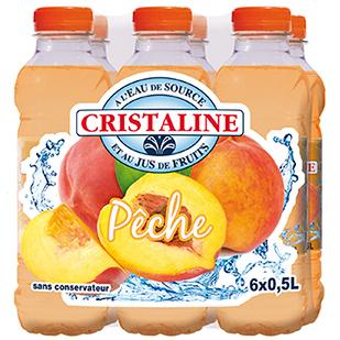 Cristaline Water Pêche 6 x 50cl