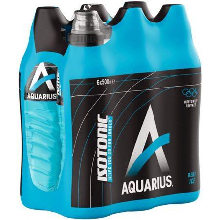 """Aquarius """"Blue Ice"""" 6 x 500ml"""